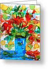 Waterglass Bouquet Greeting Card