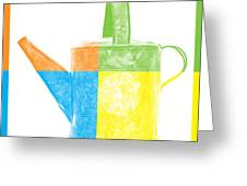 Watering Can Pop Art Greeting Card