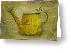 Watering Can With Texture Greeting Card