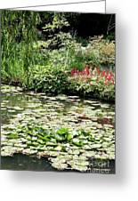 Waterlily Pond Giverney Greeting Card