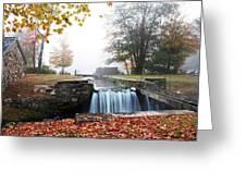 Waterloo Village Waterfall Greeting Card