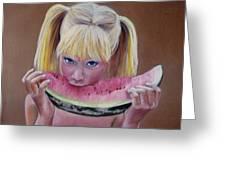 Watermelon Bite Greeting Card