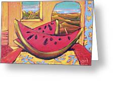 Watermelon For Two Greeting Card