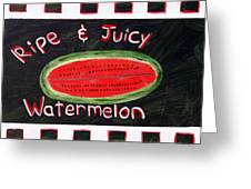Watermelon Market Sign Greeting Card
