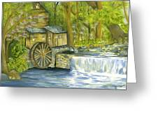 Watermill In The Woods Greeting Card