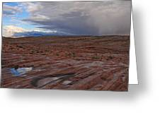Waterpockets And Storm At The Valley Of Fire Greeting Card