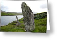 Waters Edge Stones At Bernera Greeting Card