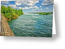 Waters Feeding Niagara Falls Greeting Card