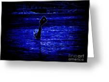 Water's Up In Neon Tweaked Greeting Card