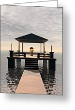 Waterside Gazebo Greeting Card