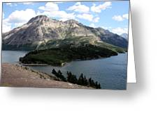 Waterton Lake Greeting Card by Carolyn Ardolino