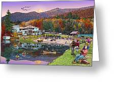 Waterville Estates In Autumn Greeting Card by Nancy Griswold