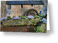 Waterwheel In Brittany Greeting Card