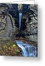 Watkins Glen Central Cascade Greeting Card