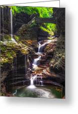 Watkins Glen Rainbow Falls Greeting Card by Mark Papke