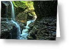 Watkins Glen Waterfalls Greeting Card