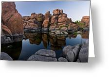 Watson Lake Arizona Reflections Greeting Card by Dave Dilli