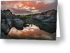 Watson Lake In Pink Greeting Card by Dave Dilli