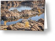 Watson Lake Greeting Card by Ray Short