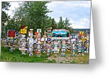 Watson Lake Sign Forest Along Alaska Highway In  Yukon-canada Greeting Card