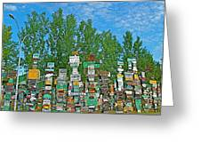 Watson Lake Sign Forest-yt Greeting Card by Ruth Hager