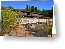 Watson Mill Covered Bridge From The Jetty Greeting Card