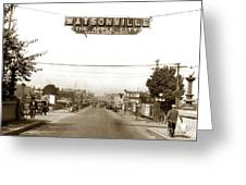 Watsonville California  The Apple City Circa 1926 Greeting Card