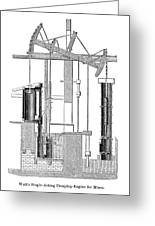 Watts Steam Engine, 1769 Greeting Card