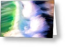 Wave Abstract Triptych 3 Greeting Card by Brad Brizek