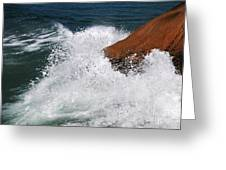 Wave Action Florianopolis Greeting Card