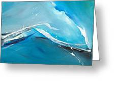 Wave Action Greeting Card by Michelle Wiarda