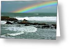 Wave And A Rainbow Greeting Card