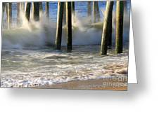 Wave Art 8 Greeting Card