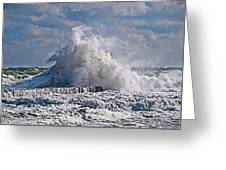 Wave Blow Greeting Card