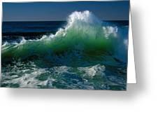 Wave Crashing On Pacific Coast, Oregon Greeting Card