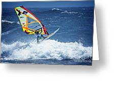 Wave Jumpimg Greeting Card
