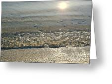 Wave On The Beach Greeting Card