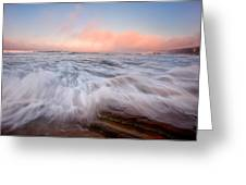 Wave On Wave Greeting Card