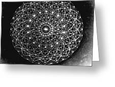 Wave Particle Duality Black White Greeting Card