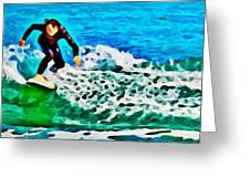 Wave Surfer Greeting Card