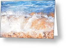 Wave Up Close Greeting Card