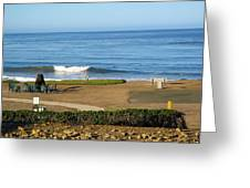 Wave Upon San Simeon Shore Greeting Card