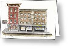 Waverly Diner In Greenwich Village Greeting Card