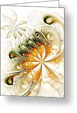 Waves And Pearls Greeting Card