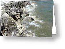 Waves And Rocks 6 Greeting Card