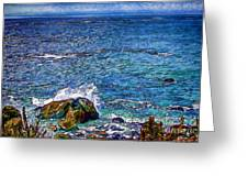 Waves And Splashes Greeting Card
