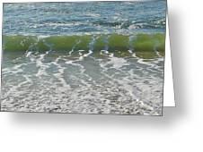 Waves At 7 Am Greeting Card