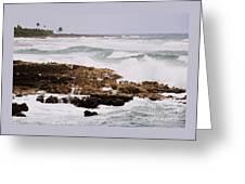 Waves Pounding Costa Maya, Mexico Greeting Card