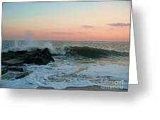 Waves At The Point West Cape May Nj Greeting Card