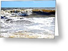 Waves At Tybee Greeting Card